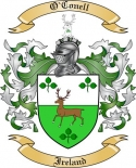 O'Conell Family Crest from Ireland