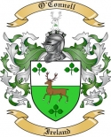 O'Connell Family Coat of Arms from Ireland