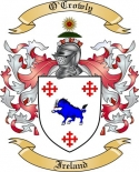 O'Crowly Family Crest from Ireland