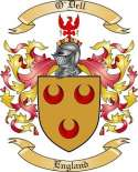 O'Dell Family Crest from England