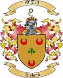 O'Dell Family Crest from Ireland