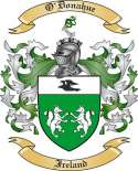 O'Donahue Family Crest from Ireland