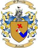 O'Donald Family Crest from Ireland