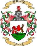 O'Donlegh Family Crest from Ireland