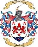 O'Donnally Family Crest from Ireland