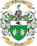 O'Donouhoe Family Crest from Ireland