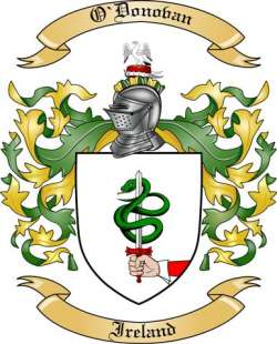O'donovan Family Crest from Ireland by The Tree Maker