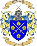 O'Duinnin Family Coat of Arms from Ireland