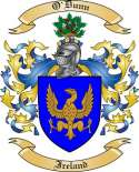 O'Dunn Family Crest from Ireland