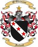 O'Gleasane Family Crest from Ireland