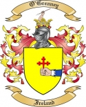 O'Greaney Family Crest from Ireland