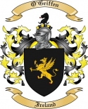 O'Griffen Family Crest from Ireland