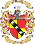 O'Hannen Family Coat of Arms from Ireland