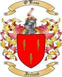 O'Kane Family Crest from Ireland