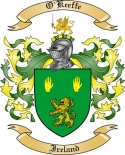 O'Keeffe Family Crest from Ireland