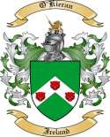 O'Kieran Family Crest from Ireland
