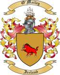 O'Mailey Family Crest from Ireland