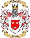 O'Mainnin Family Crest from Ireland
