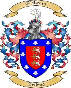 O Meara Family Crest From Ireland By The Tree Maker