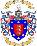 O'Meara Family Crest from Ireland