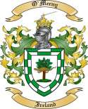 O'Meeny Family Crest from Ireland