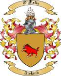 O'Melia Family Coat of Arms from Ireland