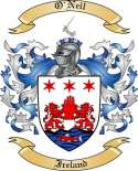 O'Neil Family Crest from Ireland