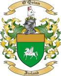 O'Quinn Family Coat of Arms from Ireland