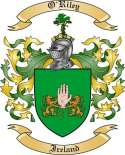 O'Riley Family Crest from Ireland