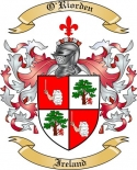 O'Riorden Family Coat of Arms from Ireland