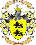 O'Rouke Family Crest from Ireland