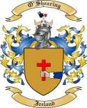 O'Shearing Family Crest from Ireland