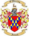O'Sheering Family Crest from Ireland2