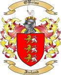 OBrine Family Crest from Ireland