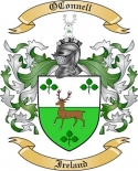 OConnell Family Coat of Arms from Ireland