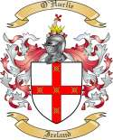 OHurlie Family Coat of Arms from Ireland