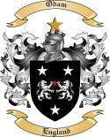 Odam Family Coat of Arms from England