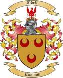 Odell Family Coat of Arms from England