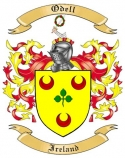Odell Family Coat of Arms from Ireland