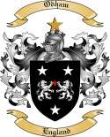 Odham Family Crest from England