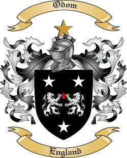 Odom Family Crest from England