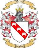 Ofield Family Crest from England
