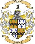 Ogdon Family Crest from England