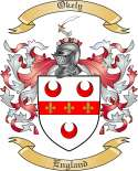 Okely Family Crest from England