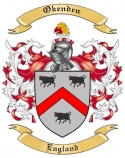 Okenden Family Crest from England