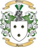 Olivar Family Coat of Arms from Spain