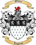 Oliver Family Coat of Arms from England