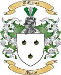 Oliveras Family Crest from Spain
