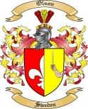 Olson Family Crest from Sweden