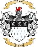 Olver Family Coat of Arms from England